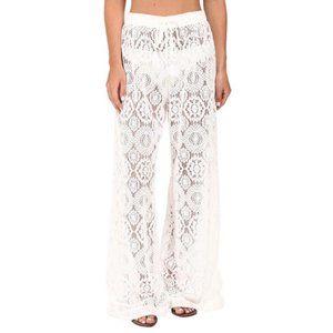 Michael Kors Crochet White Swim Cover Pants XS